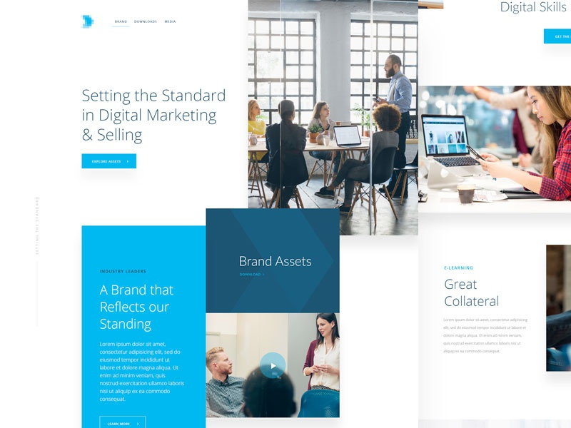 Brand Website digital blue ireland ux ui website marketing web brand