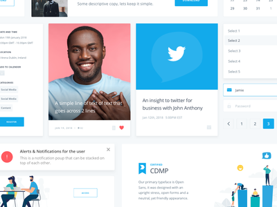 UI Elements design system styleguide library content lms learning product cards ui