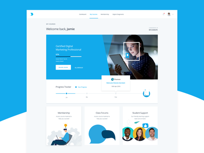 Course Overview ui course cards product card course marketing learn e-learning lms