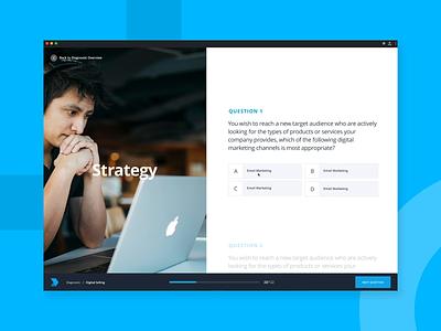 Quiz Diagnostic Web App motion invision invision studio lms e-learning web product ui