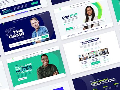 DMI v3 product ui courses marketing typography website layout