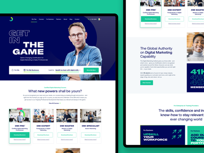 Homepage DMIv3 marketing courses product design landing page homepage layout website