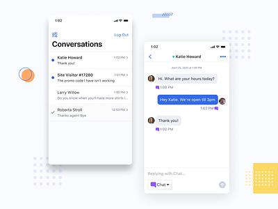 Conversations conversational ui message app chat conversation mobile ui