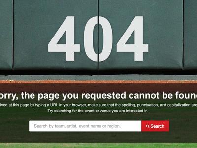 404 Error Page 404 error baseball