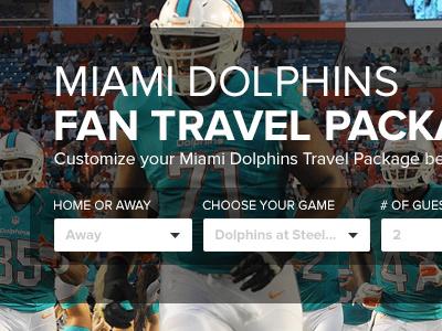 Dolphins Travel Package Form form ui ux transparent modern web