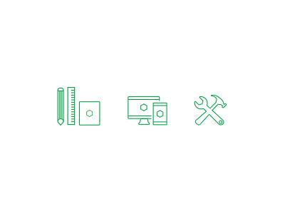 Web Icons icon illustration website design development tools