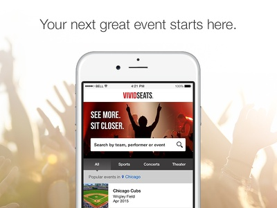 Mobile App mobile app iphone ios tickets event