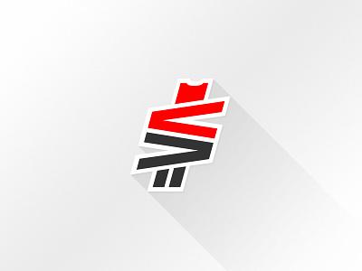 Vivid Values Ticket Rewards Program Logo logo money rewards long shadow shadow illustrator