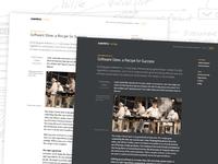 Centro Tech Blog Nighttime Theme