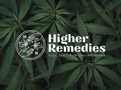 Higher Remedies CBD Infusions Brand brand identity branding marijuana cbdoil cbd packaging design