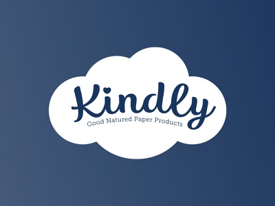 Kindly | Good Natured Paper Products brand identity brand paper towel bath tissue packagedesign packaging