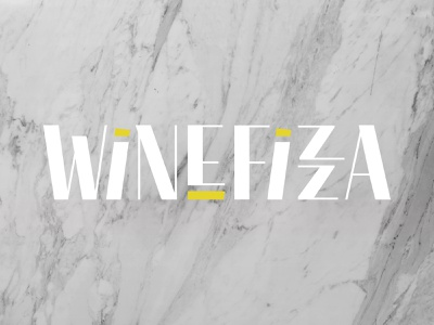 WINEFIZZA logo branding design woman owned european imports wine