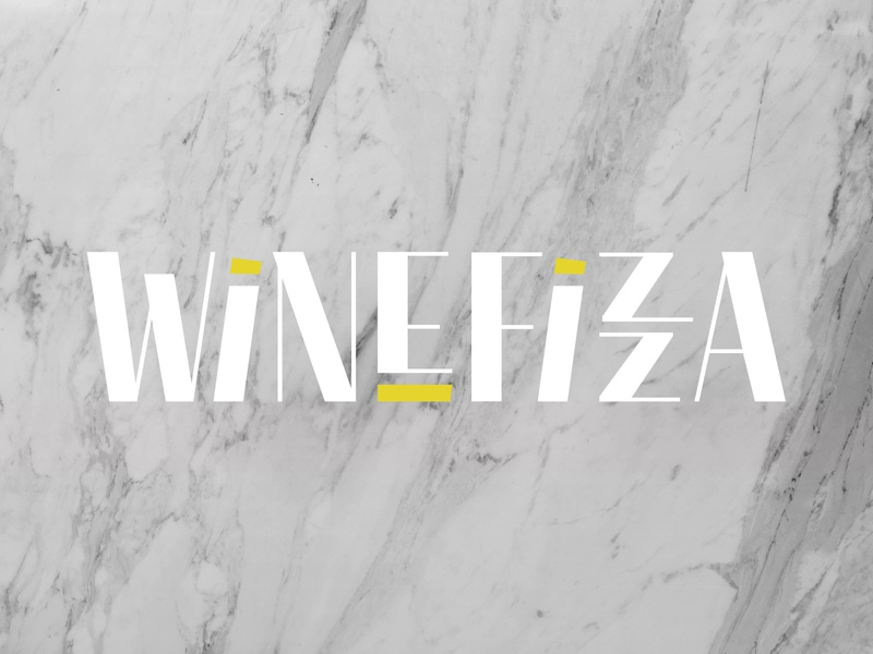 WINEFIZZA branding design woman owned european imports wine
