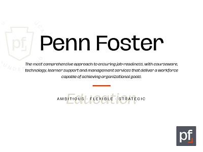 Penn Foster Brand Refresh Concept Vs2 rebrand brand refresh brand design branding