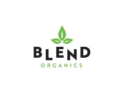 Blend Organics Juice & Smoothie Bar green logodesign logo branding design branding smoothie juice organic blend
