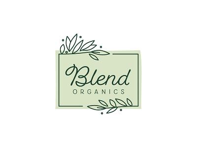 Blend Organics Juice Bar logodesign logo branding design branding smoothie juice bar juice organic blend