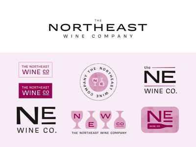 The Northeast Wine Company logodesign logo brand design branding wine branding wine label wine importer wine