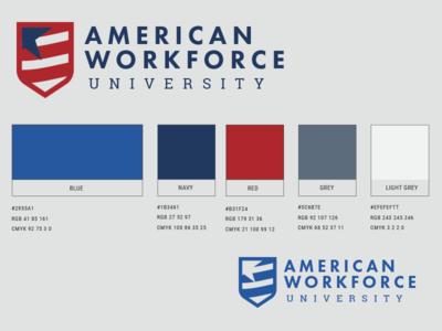 American Workforce University  logo brand workforce american