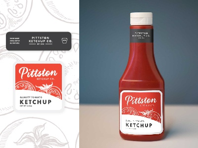 Ketchup Bottle Label Mockup