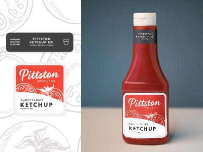 Ketchup Bottle Label Mockup packaging condiment label ketchup