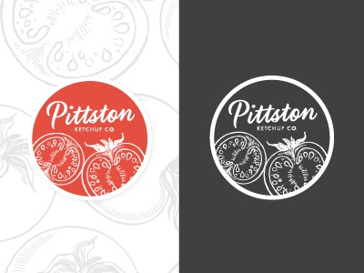 Pittston Ketchup Seal  branding packaging label seal ketchup pittston