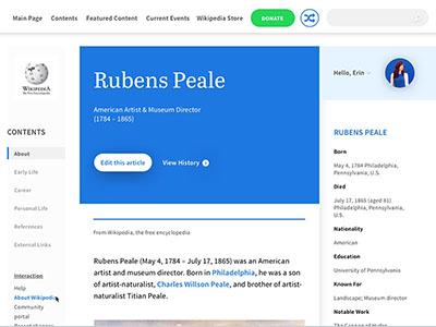Wikipedia Redesign  redesign ui wikipedia