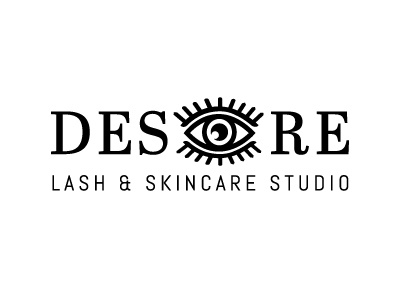 DESEYERE Lash & Skincare Studio branding brand illustrator rebus vector studio salon logo extensions lashes eyelashes