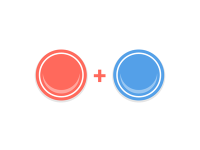 Flat Arcade Buttons gaming arcade button flat design