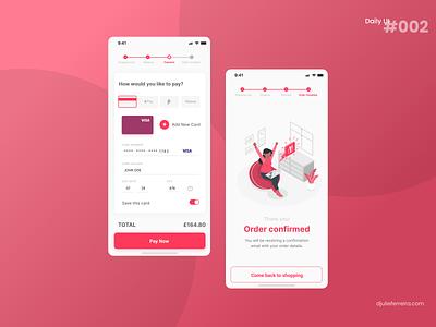 Credit Card Checkout | DAILY UI 002 ui dailyui