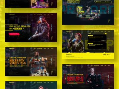 CyberPunk 2077 Web Concept cyberpunk 2077 gaming design concept creative uidesign