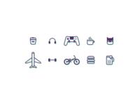 Iinterest Resume Icons