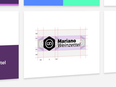 WIP Personal Brand logotype wip style guide clean space branding