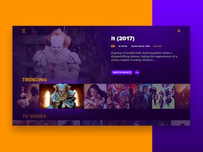 #DailyUi: #025 TV App appdesign movies trending gradients 2017 creative tv app uidesign it