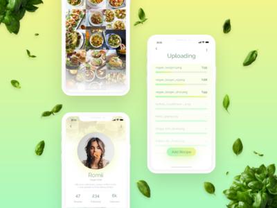 #DailyUi: #031 File Upload uidesign interface dailyui upload gallery profile recipes food vegans instanvegan iphonex