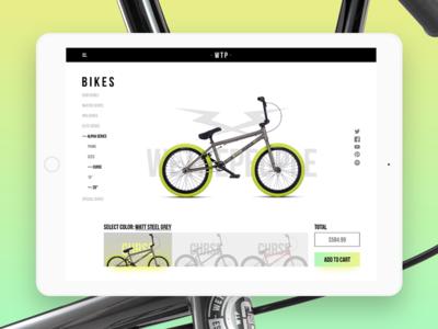 #DailyUi: #033 Customize Product order wethepeople bmx bikes interfacedesign uidesign customizeproduct 033 dailyui