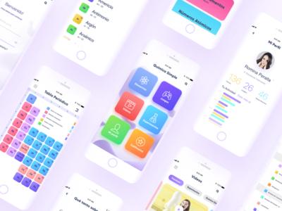 Química Simple education games chemistry design app branding