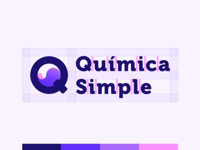 Química Simple safezone grid logo chemistry app branding