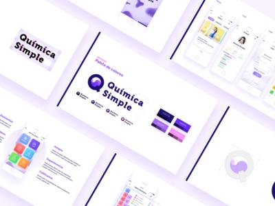 Química Simple presentation guidelines manual app branding