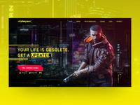 CyberPunk 2077 Web Concept glitch creative uxdesign uidesign concept web cyberpunk2077
