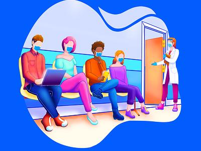 Proyecto dibujo 1 : consultorio design illustration
