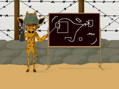 Jirafa Tactica #3 draw fun pixelart ilustración illustration design animation animacion