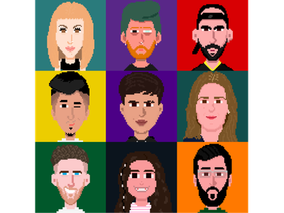 Custom Avatars draw fun design animation animacion pixelart ilustración illustration