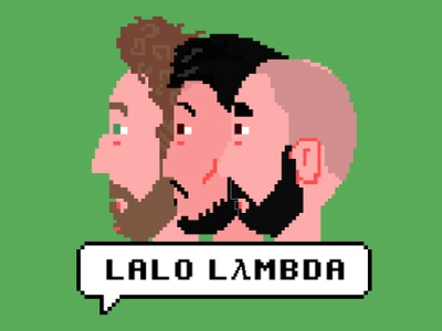 Lalo Lambda - Podcast photoshop logo design podcasting podcast pixelart ilustración illustration