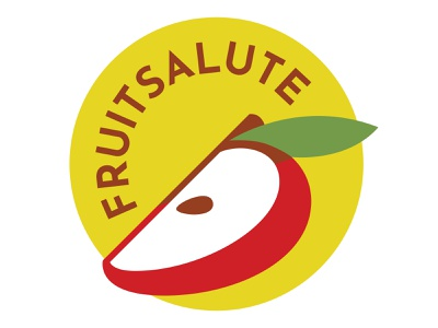 FruitSalute Instagram Logo illustrator graphic design minimal flat icon typography vector logo design illustration