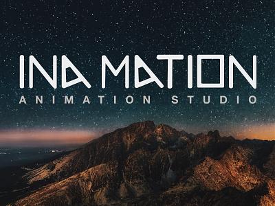 Ina Mation Animation Studio Logo inamation lettering vector minimal illustrator graphic design flat branding typography design logo animation