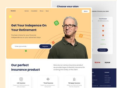 Insurance Website Design insurance company saving money landingpage landing page white smooth webdesign website simple clean ux uiux website design ui insurance