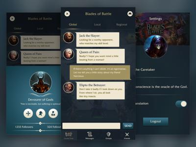 Game Chat UI minimal sleek customisation ux ui chat