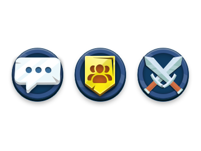 Game Icons battle friends group chat icons game