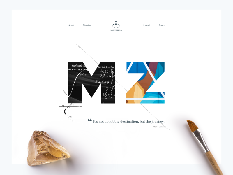 Personal Landing Page ux ui flat design sleek clean minimal