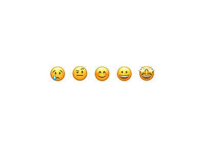 Emoji Rating Concept 🥳 iphone app animation design sleek ux clean minimal intuitive sentiment rating emoji